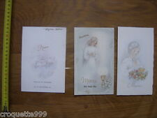 Annees 90 Lot de MENU CARTE mariage communion religion vin gastronomie Francaise