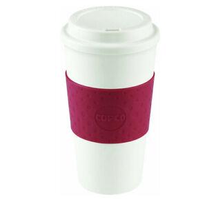 Travel Mug Plastic Red 450ml Durable