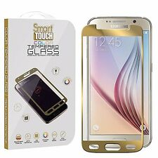 For Galaxy S6,Clear Tempered Glass Screen Protector 9H Hardness GOLD Color
