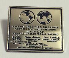 Apollo 11 Moon Plaque Lapel Pin Official NASA Edition Buzz Armstrong Armstrong