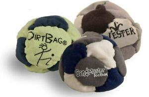 BEST FOOTBAGS 3 PACK - Set of Three Footbag Favorites (HACKY SACKS) Asst Colors