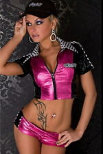 SEXY NAUGHTY ADULT CAR DRIVE RACER SPORT GIRL COSTUME HALLOWEEN  PARTY OUTFITS