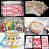 100X Self Adhesive Christmas DIY Cellophane Party Treat Cooky Candy Gift Bags H
