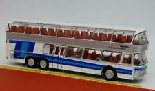 Neoplan Skyliner Nh 22 DD Double Decker Silver With Blue - BREKINA Starline