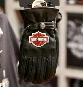 Harley-Davidson Men's Enthusiast Bar & Shield Riding Leather Gloves 98356-17EM