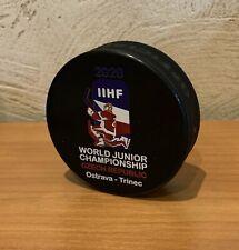 2020 IIHF OFFICIAL  game puck Ice hockey  World Championship  Czech Republic