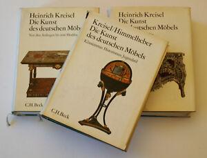 Die Kunst des Deutschen Möbels Heinrich Kreisel /Himmelheber in 3 Bänden