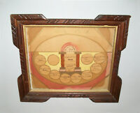 Old Antique Vtg 19th C 1887 to 1908 Watercolor Folk Art Clinton Family Record
