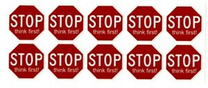 """# """"Stop Think First"""" Stickers 