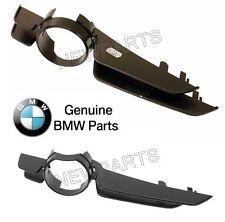 For BMW E46 3-Series Pair Set of Front Left +Right Black Fog Light Trims Genuine