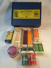 LILJEHOLMENS VINTAGE CANDLES JOB LOT & BOX