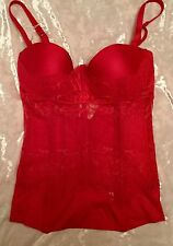"TOP ""LA PERLA"" TG 1 / XS 70 C COPPA C ROSSO  PUSH UP"