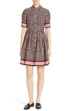 KATE SPADE - FLORAL TILE Shirtdress Chocolate Brown Cupcake - Dress 14 XL NEW