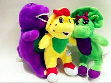 "3pcs/set Singing Barney & Friends Plush Doll Figures Baby Bop BJ 6.7"" Gift"