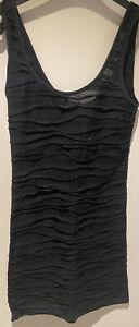 Topshop Black Longline Vest Top Size 8