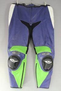 CORNER LEATHER BIKER TROUSERS + CE ARMOUR/KNEE SLIDERS: WAIST 40/INSIDE LEG 30IN