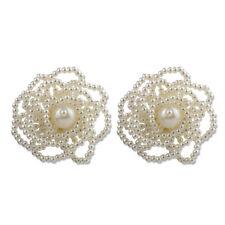 Flowers Ear Stud Fashion Earrings Jewelry 1 Pair Elegant Women Lady Big Pearl
