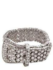 Victorian Trading Co Glitz And Glamour Crystal Rhinestone Buckle Bracelet