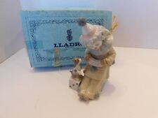 LLADRO PIERROT WITH PUPPY CLOWN PLAYING CONCERTINA (Accordion) # 5279 With Box