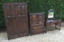 VERY CLEAN ARTS & CRAFTS SOLID OAK 3 PIECE BEDROOM SUITE 2-MAN DELIVERY