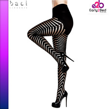 Jacquard Pantyhose Black OS - After Dark