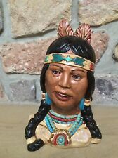 Vintage Indian Maiden Statuary Bust 10 Inches Tall