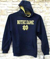 Notre Dame Fighting Irish Adidas Football Youth Navy Blue & Gold Hoodie Medium