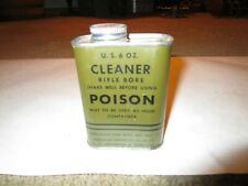 vintage gun oil can, military 6 Oz full nice display. Poison. Johnson & Son Inc