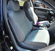 ACURA TL 2004-2008 GREY S.LEATHER CUSTOM FIT FRONT SEAT COVER