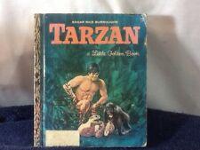 Vintage 1964 TARZAN Little Golden Book Hard Cover Book By Gina Ingoglia Weiner