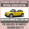 *WORKSHOP MANUAL SERVICE & REPAIR GUIDE for MINI COOPER CONVERTIBLE S 2001-2006