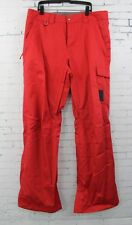New 2017 Bonfire Mens Taggart Ski and Snowboard Pants Large Flame Red
