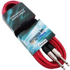 KEEPDRUM GC-004 RD Rot 6m Instrumentenkabel Klinke 6,3mm +Kabelbinder