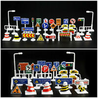 28 Pcs Car Toy Accessories Traffic Road Signs Kids Children Play Learn Toy Game