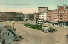 The Square Looking West Watertown New York Postcard 2/6032