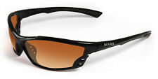 Mens Maxx HD Sunglasses Cobra HDP black golf womens fishing polarized brown lens