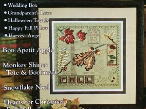 Fall Leaves Stoney Creek Cross Stitch Magazine Cross Stitch Pattern