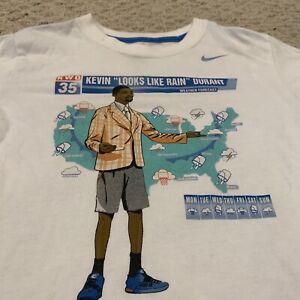 Kevin Durant Looks Like Rain Nike Dri-Fit T Shirt NBA Youth Boys Small (8-9)