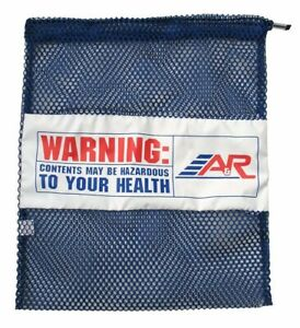 A&R Sports Mesh Laundry / Gear Bag - Hockey, Football, All Sports (Royal Blue)