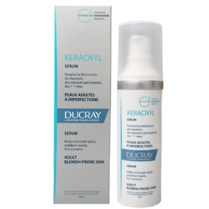 Ducray Keracnyl Serum for Spots, Blemishes and First Wrinkles 30ml Exp 10/2023