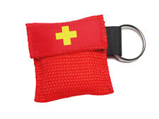 Beatmungsmaske Beatmungstuch Beatmungsfolie rot CPR Maske Key