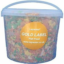 Lapwater Value Goldfish & Pond Flake Aquarium Fish Food 3000ml 3 Litre Bucket