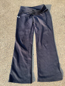 Under Armour semi-fitted Women's Sz SMALL Black Sweat pants