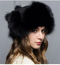 new Genuine Real fashion Winter Women fox fur New Hat Cap Headgear Beanie A5