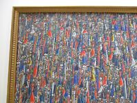 MODERNIST HAITIAN PAINTING ABSTRACT EXPRESSIONISM VINTAGE SIGNED LARGE COLORFUL