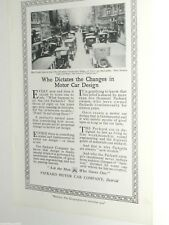 1920 PACKARD Motor Car Company advertisement page, big city traffic jam