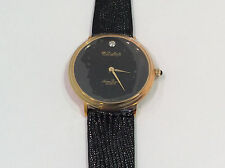 Dufonte By Luccien Piccard Women's Watch Black Analog Dial Black Band Quartz