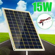 12V 15W Waterproof Solar Panel with Line Clip/Suction Cups for Camping Light