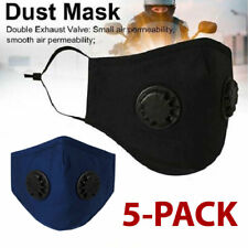 5 PCS Face Mask Cotton With Pocket For Filter Exhalation Valve Reusable Soft