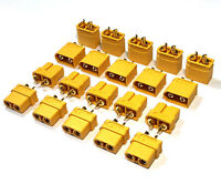 10 Paar XT60 Original Amass Goldstecker XT60U Male Female Stecker 65A Lipo Akku